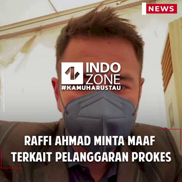 Raffi Ahmad Minta Maaf Terkait Pelanggaran Prokes