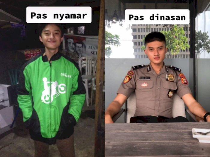Perbedaan Polisi Nyamar & Dinas Ini Bikin Takjub, Netizen: Lapor Komandan Saya Jatuh Cinta