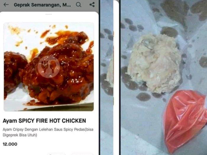 Viral Netizen Beli Ayam Krispi Pedas Lewat Aplikasi Ojol, Tapi yang Datang Malah Begini