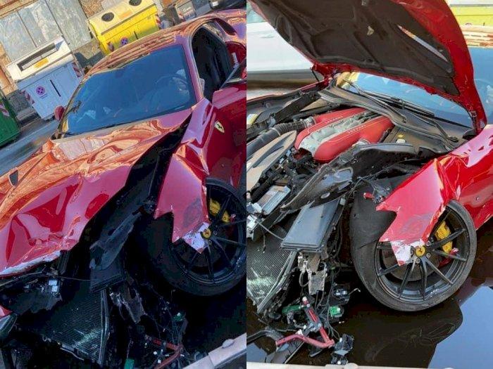 Mobil Ferrari Rp5,7 Miliar Milik Kiper Timnas Italia Ini Hancur di Tangan Pencuci Mobil