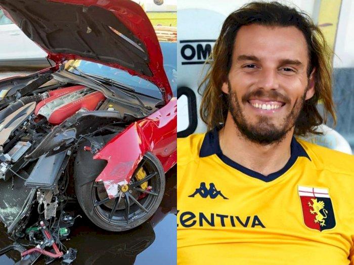 Mobil Ferrari Seharga Rp5,7 Miliar 'Dihancurkan', Marchetti Bersyukur Tak Ada yang Terluka