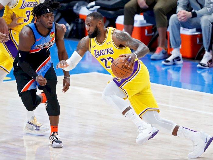 FOTO: Lakers Menang Mudah 128-99 Atas Oklahoma City Thunder