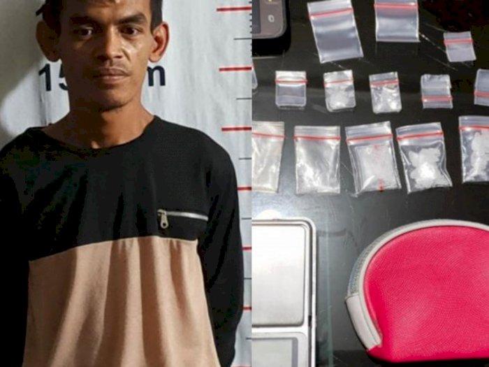 Bisnis Sampingan Jadi Bandar Narkoba, Seorang Nelayan di Langkat Diciduk di Rumahnya