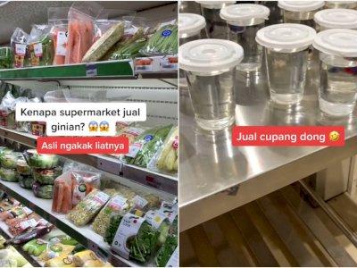 Gak Mau Ketinggalan Tren, Supermarket Ini Ikutan Jualan Ikan Cupang