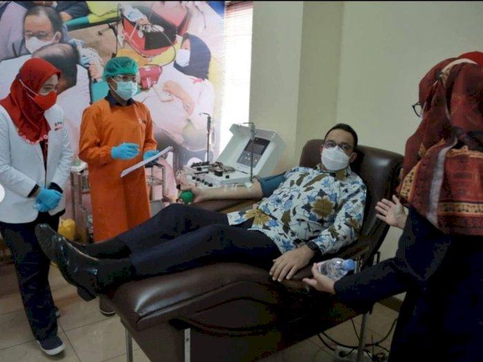 Jadi Penyintas Covid-19, Anies Baswedan Donorkan Plasma Darah