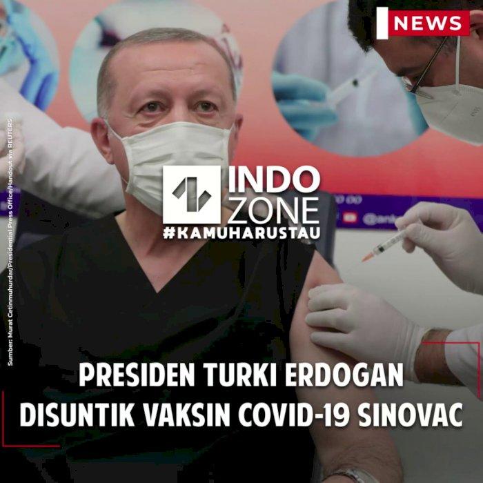 Presiden Turki Erdogan Disuntik Vaksin Covid-19 Sinovac