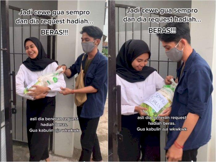 Cewek ini Minta Hadiah Beras Usai Seminar Proposal, Netizen: Bermanfaat Untuk Anak Kost