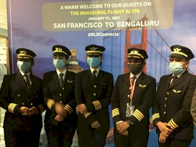 Ukir Sejarah Baru, Pilot-Pilot Wanita Air India Tuntaskan Penerbangan Nonstop 17 Jam