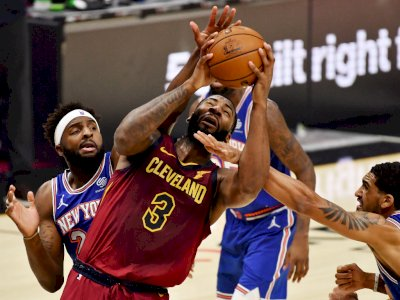 FOTO: 33 Poin dan 23 Rebound Drummond Bawa Cavaliers Kalahkan Knicks 106-103