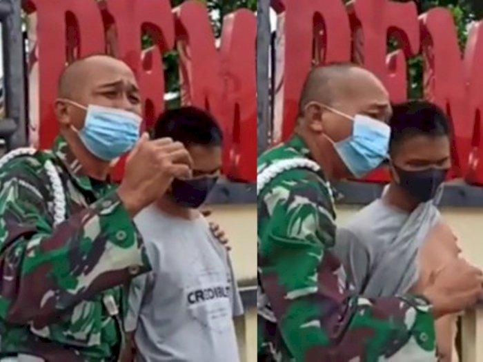 Prajurit TNI di Siantar Nangis Minta Keadilan Kasus Anaknya yang Alami Kecelakaan Kerja