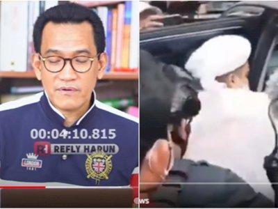 Rizieq Shihab Diduga Disepak Brimob di Mobil, Refly Harun Ungkap Fakta Sepatu si Brimob