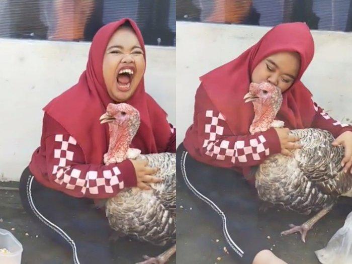 Video Kekeyi Cium Ayam Kalkun Sukses Bikin Ketawa, Netizen: Kalkunnya Kena Tekanan Batin