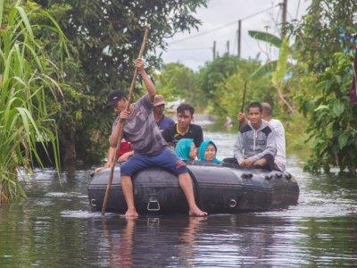 Banjir di Kalsel, BNPB Sebut 27.111 Rumah Terendam dan 112.709 Warga Mengungsi