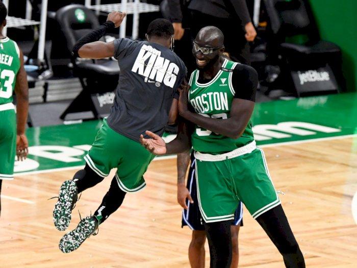 FOTO: Boston Celtics Berhasil Taklukkan Orlando Magic 124-97