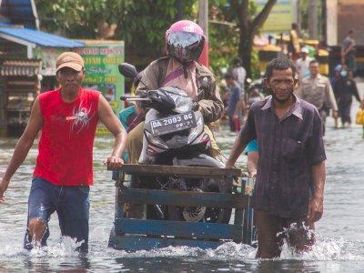 Sebanyak 3.000 KK Terdampak Banjir di Banjarmasin Kalsel
