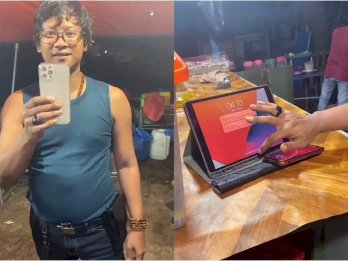 Tukang Pecel Lele Ini Bikin Netizen 'Insecure', Pamer iPhone 12 Pro Max