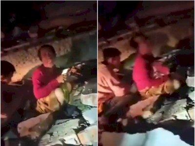 Tangis Pilu Seorang Bapak Korban Gempa Mamuju, Anaknya Tertimbun Puing Reruntuhan Rumahnya