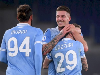 FOTO: Liga Italia, Lazio Bantai AS Roma 3-0
