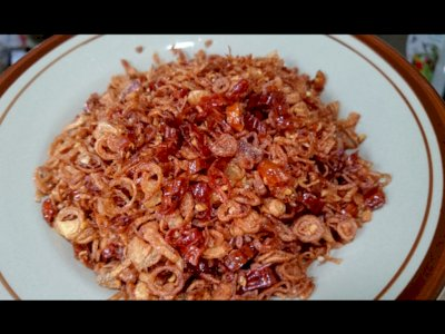 Resep Kreasi Bawang Goreng Pedas, Biar Makan Makin Nendang