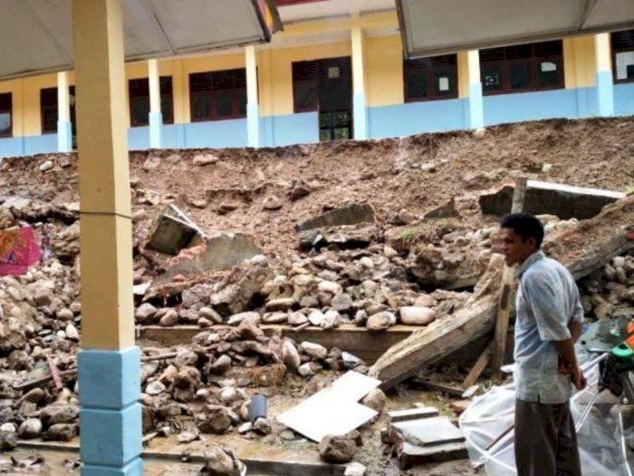 Curah Hujan Tinggi, Gedung SD Negeri Pepelah Gayo Lues Aceh Dilanda Longsor, Korban Nihil