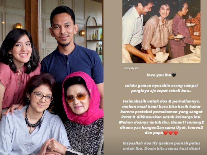 Farida Pasha 'Mak Lampir' Meninggal Dunia, Ify Alyssa: Senang-senang di Sana Sama Papa
