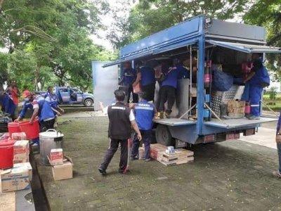 Beri 'Bantuan Balasan', Dinsos Sulteng Dirikan Dapur Umum untuk Warga Sulbar