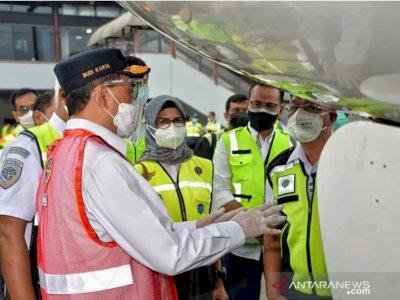 Kunjungi Bandara Soetta, Menhub Tinjau 'Ramp Check' Kelaikan Pesawat Batik Air