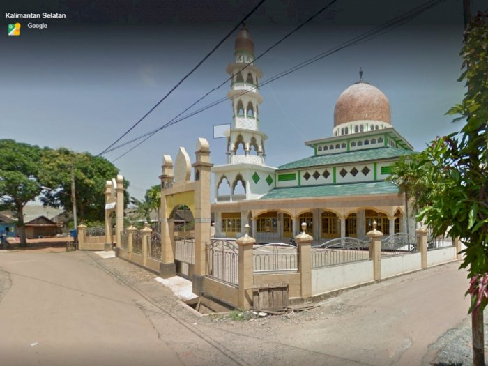 Banjir di Tanah Laut Kalsel, Kondisi Masjid Ihyauddin di Desa Banua Raya tak Masuk Air