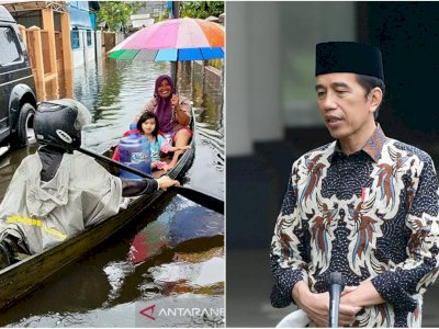 Usai Diprotes Netizen, Presiden Jokowi Hari Ini ke Kalsel untuk Cek Penanganan Banjir