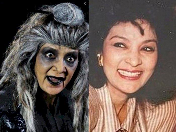 Farida Pasha Pemeran Mak Lampir Wafat Disambut Gunung Merapi Keluarkan Awan Panas