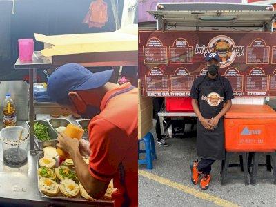 Gak Takut Rugi, Penjual Ini Tawarkan Burger Gratis dan Boleh Makan Sampai Kenyang