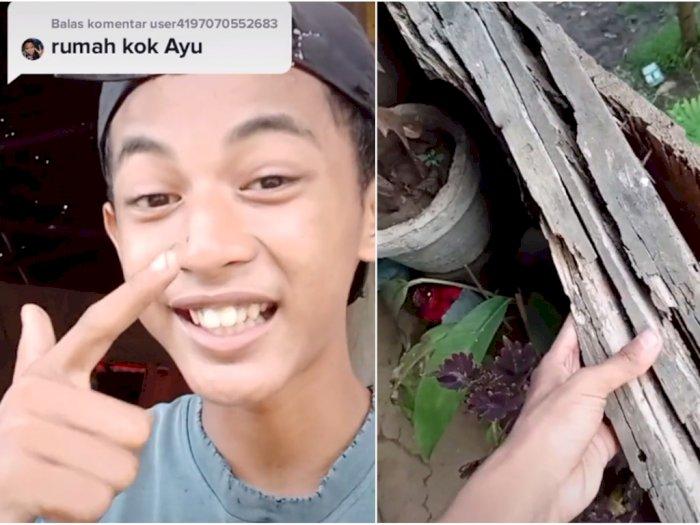 Pemuda Ini Diejek karena Rumah dari Kayu, Reaksinya Bikin Salut