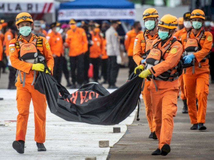 308 Kantong Body Part Korban SJ182 Diterima RS Polri di Hari Ke-10