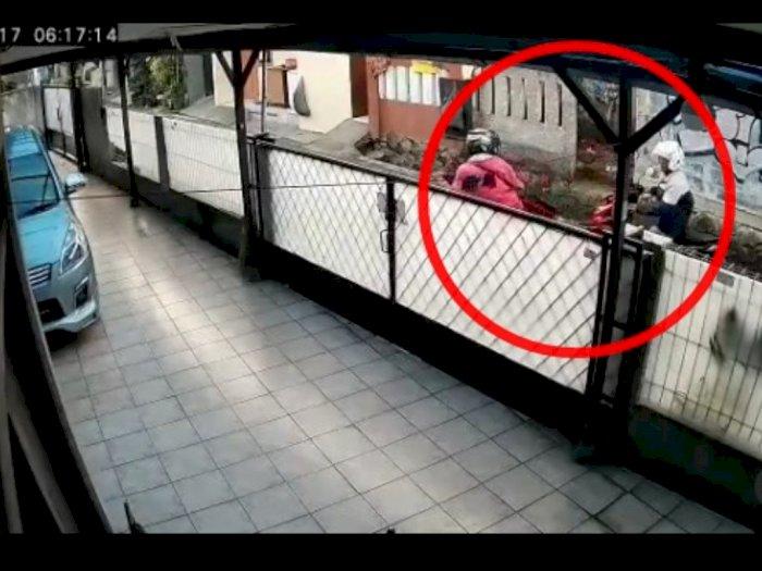 Diduga Sering Lakukan Aksi, Pencuri Motor di Jakbar Terekam Kamera CCTV Jadi Incaran Warga