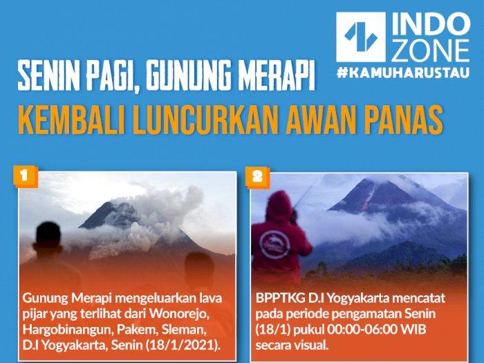 Gunung Merapi Muntahkan Lava Pijar dan Awan Panas