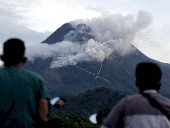 Jarak Luncur Awan Panas dari Erupsi Gunung Merapi Mencapai 1.800 Meter ke Arah Barat Daya