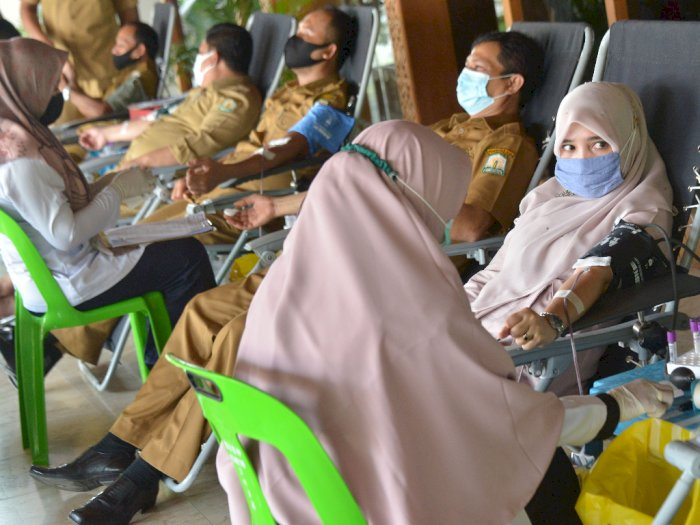 FOTO: Gerakan Donor Darah ASN di Aceh
