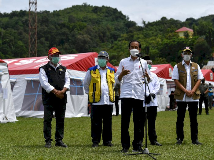 FOTO: Presiden Jokowi Tinjau Penanganan Gempa Sulawesi Barat
