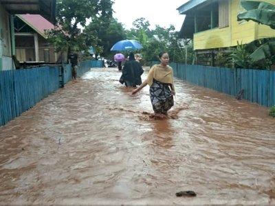 FOTO: Banjir di Kecamatan Kabaena Sulawesi Tenggara
