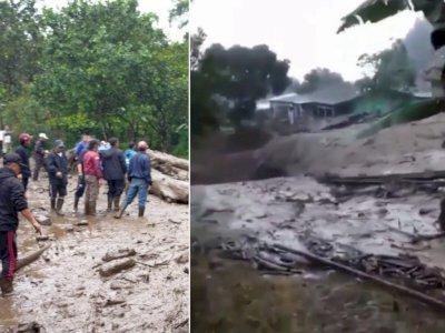 Detik-detik Mengerikan Banjir Bandang Campur Lumpur di Bogor, DKI Waspada Banjir Kiriman
