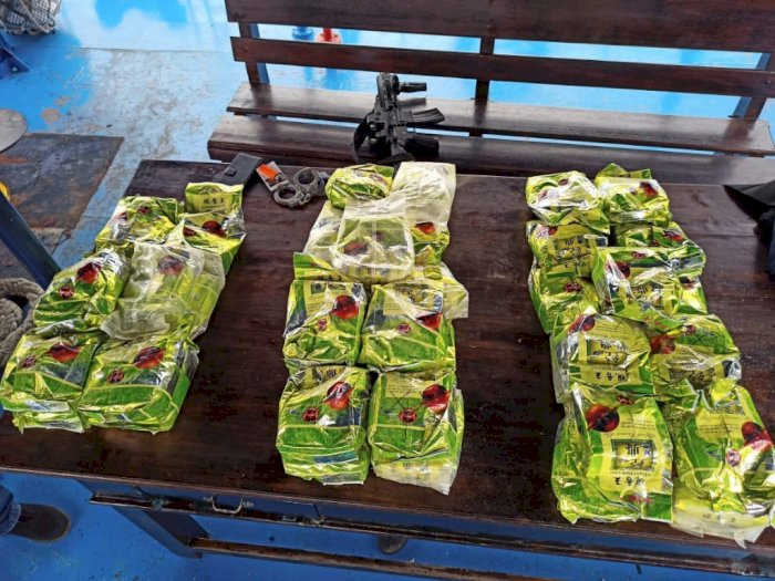 BNN Amankan 40 Bungkus Sabu dari Kapal di Selat Malaka Menuju Sulteng