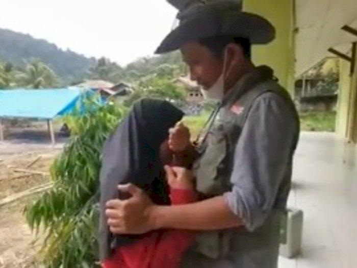 Tangis Husnul Khatimah yang Belum Lama Ditinggal Ayah, Kini Rumahnya Hancur Akibat Gempa