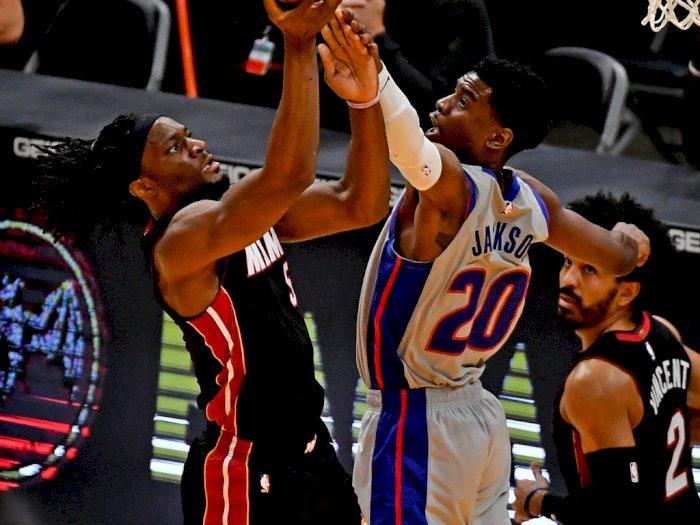 FOTO: Berhasil Comeback! Miami Heat Atasi Detroit Pistons 113-107