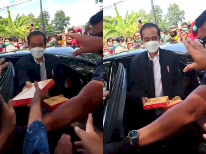 Presiden Jokowi Temui Korban Gempa di Mamuju, Warga Berebut Nasi Kotak