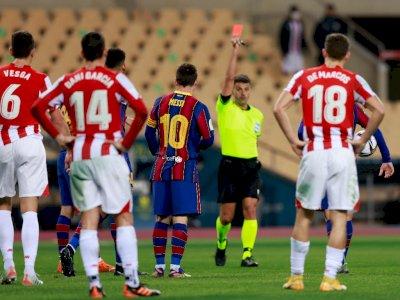 Messi Terancam Dilarang Main 4 Laga Pasca Diganjar Kartu Merah
