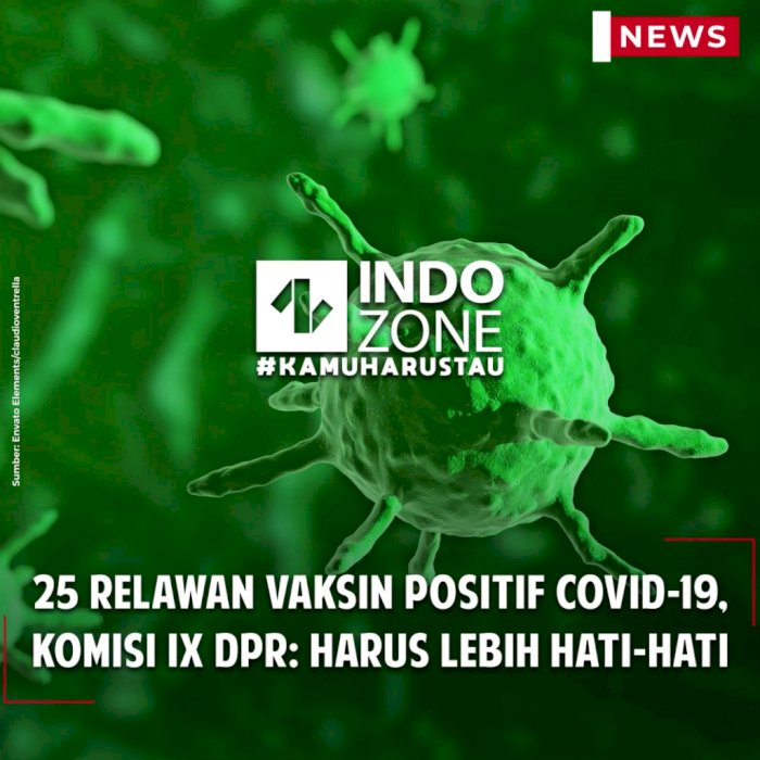 25 Relawan Vaksin Positif Covid-19, Komisi IX DPR: Harus Lebih Hati-Hati