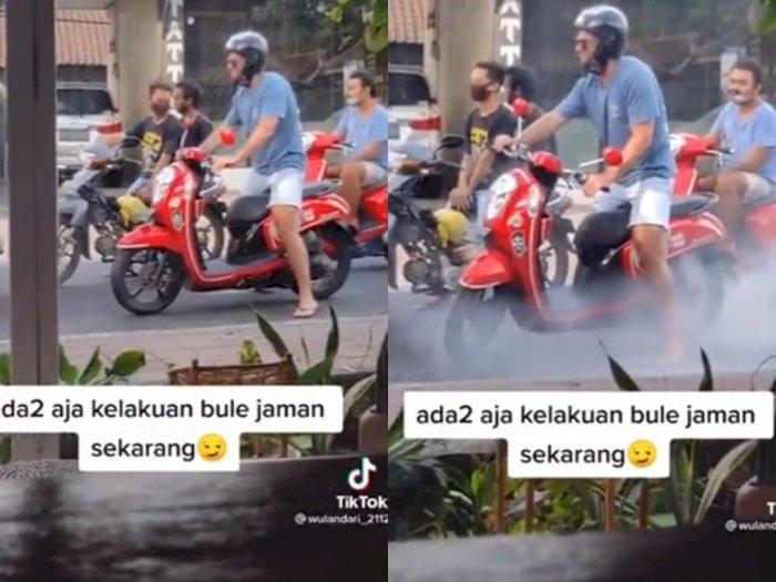 Viral Bule di Bali Geber-geber Motor Sampai Berasap, Reaksi Orang Sekitarnya Jadi Sorotan