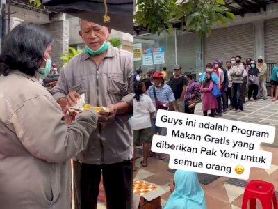 Pria Ini Beri Makanan Gratis ke Warga, Ingin 'Tabung' Kebaikan di Masa Tua