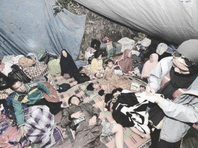 Kondisi Pengungsian Korban Gempa Sulbar, Tidur Sempit-sempitan dan Hanya Beralaskan Tikar