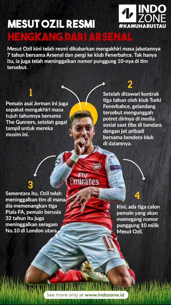 Mesut Ozil Resmi Hengkang dari Arsenal